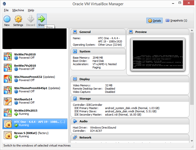 Connect to Android Emulator from VirtualBox | Noise from the