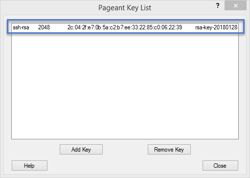 Pageant Key Added