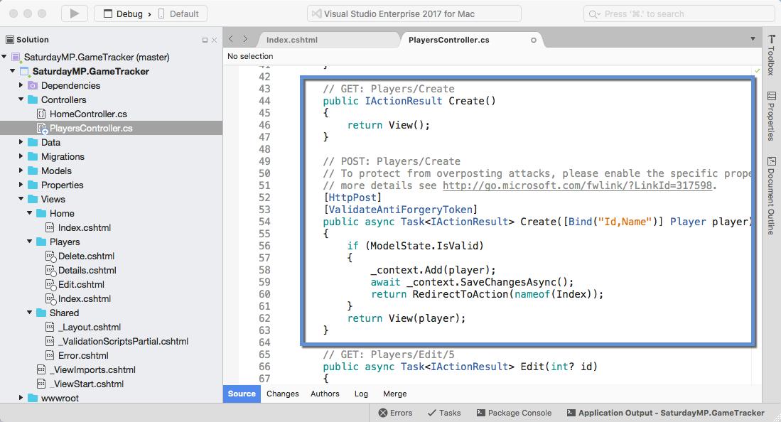 Player Controller Code Create Method